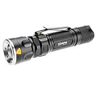 LED Flashlights/Torch / Handheld Flashlights/Torch LED 5 Mode 1000 Lumens Adjustable Focus Cree XM-L T6 18650 / AAA Sipik , BlackAluminum