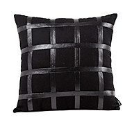 Moderna Faux Pillow Cover in pelle decorativa