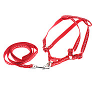 Dog Harnesses Red Genuine Leather