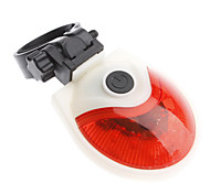 Red+White ABS 5 Super Bright LED/7 Flashing Mode Bicycle Safety Taillights with 2 AAA Batteries