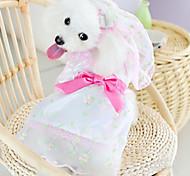 Bella Fiore abito da sposa con velo modello per i cani (a colori assortiti, XS-XL)