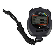 Black Wearable Outdoor Stopwatch with Countdown Timer Function