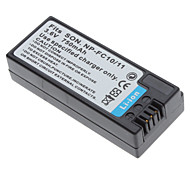 Digital Video Batteria Sostituire Sony NP-FC10/11 per Sony AC-VQ800 e più (3,6 V, 750 mAh)