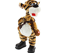 Singing and Dancing Toy Crazy Shaking Head Plush Tiger (3xAA)