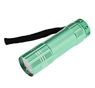 LED Flashlights / Handheld Flashlights LED 1 Mode Lumens Waterproof Others AAA Others , Blue / Green / Grey Aluminum alloy