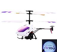 De 3.5 canales rc helicóptero con giroscopio te amo don proyección de luz día de San Valentín (58021)