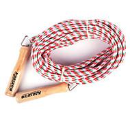 Houten Handvat ATLS Groep Springtouw Red and White (verschillende kleuren, 10M)