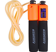 Sponge Handle PVC Adjustable Skipping Rope with Counting Function(Random Color)