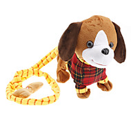 Walk the Dog Singing and Barking Shaking Tail Puppy Plush Toy (3xAA, Brown)