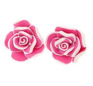 Las Rosas Pendientes de arcilla de polímero (más colores)