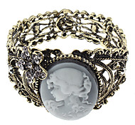 Z&X®  Temperament Lady Relief Ancient Hollow Out Wide Bracelet
