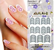 3PCS Mixed-style Paper Nail Art Image Stamp Stickers LK Series No.25