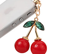 Cute Cherry Pattern Anti-dust Earphone Jack for iPhone 4/4S(Assorted Colors)