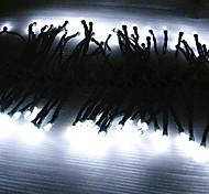 12M energía solar de 100 LED de luz blanca cadena lámpara intermitente