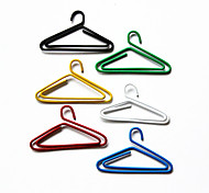 Hangers Pattern Plastic Wrapped Paper Clips(10PCS Random Colors)