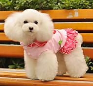 Incantevoli abiti pattern fragola con cappuccio per cani (a colori assortiti, XS-XL)