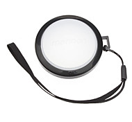 MENNON 52mm Camera White Balance Lens Cap Cover with Hand Strap (Black & White)