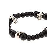 Black Skull Agate Bracelet