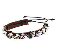 Mixed Color Hand Woven Leather Bracelet