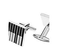 Z&X®  Piano Key Pattern Alloy Cufflink