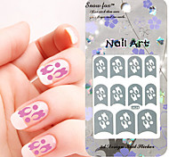 3PCS Mixed-style Paper Nail Art Image Stamp Stickers LK Series No.19