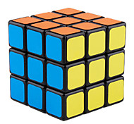 Magic Cube IQ Cube Shengshou Three-layer Smooth Speed Cube Magic Cube puzzle Black Plastic