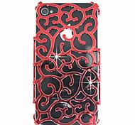 Hueco de salida Patrón decorativo Palace cubierta posterior para el iPhone 4/4S