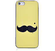 Cute Mustache Pattern Hard Case for iPhone 5/5S (Yellow)