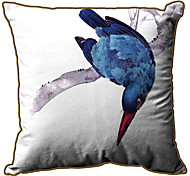 Blue Bird Modelo de la impresión Velet almohada cubierta decorativa