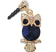 3,5 millimetri Carino Sapphire Owl modello anti-polvere del trasduttore auricolare Jack