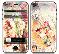 Cartoon Design Front and Back Screen Protector Film for iPhone 4/4S