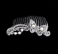 Women's Rhinestone/Alloy Headpiece - Wedding Hair Combs