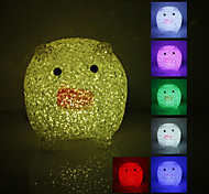 Crystal Pig Shaped Color Changing LED Night Light (USB)