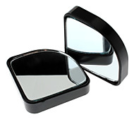 2-Piece Vehicle Safety Wide Angle Convex Rear Glass Blind Spot Mirror