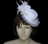 Women's Lace/Feather/Cotton/Flannelette Headpiece - Wedding/Special Occasion Fascinators