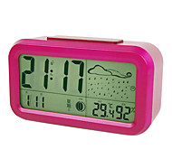 Led Mute Alarm Clock with Hygrometer