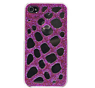 Shinning Plaid Pattern Hard Case for iPhone 4/4S(Random Color)