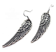 Vintage Angel's Wings Pattern Earrings(Silver)