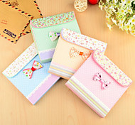 Pouch Bowknot Pattern Colorful Paper Notebook (Random Colors)