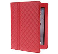 Strohmatte Muster pu Ledertasche mit Ständer für iPad 3 & iPad 4