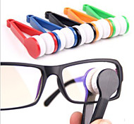 Mini Microfiber Glasses Eyeglasses Cleaner Cleaning Clip (Random Color)