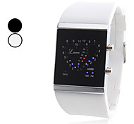 Unisex LOVE Style Silicone Digital LED Wrist Watch (Assorted Colors) Cool Watch Unique Watch