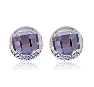 European Style  fashion luxury  drill crystal roundness gold plating Earrings