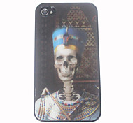 3D Effect Akhnaton Pharaoh Pattern Hard Case for iPhone 4/4S