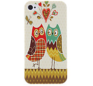 Couple Owl Motif Housse de protection rigide pour iPhone 4/4S