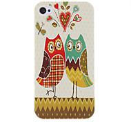 Owl modello Custodia protettiva rigida per coppie iPhone 4/4S