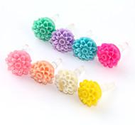 Multilayer Flower Plastic Anti-Dust Earphone Jack (Assorted Color)