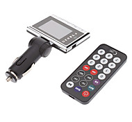 Universal Ultra Thin Car MP4 FM Transmitter with Remote Control(Support USB/TF)