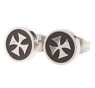 8 mm cross Sign Stainless Steel Stud Earrings