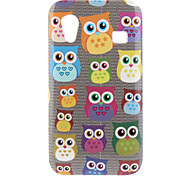 Uil patroon Hard Case voor Samsung Galaxy Ace S5830